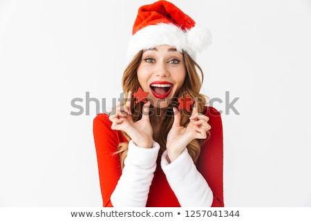 Afbeelding mooie gelukkig vrouw 20s Stockfoto © deandrobot
