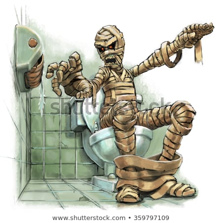 Cartoon Mummy Sitting Stock photo © cthoman