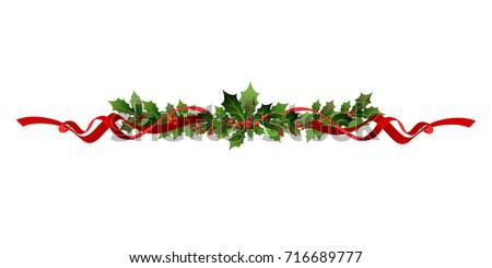 Rood · kerstmis · label · bes · helling - stockfoto © cammep