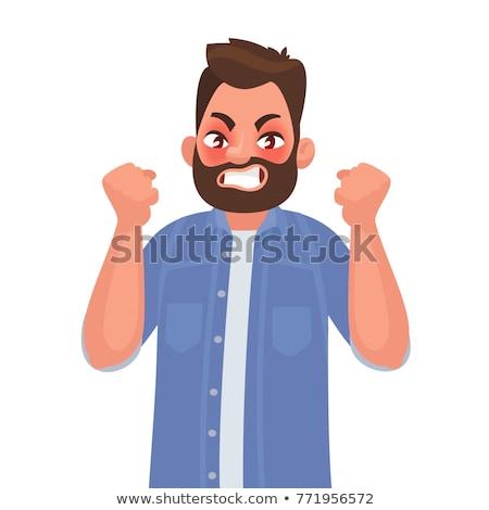 empresário · cabeça · homens · terno · desenho · animado - foto stock © robuart