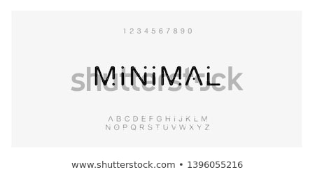 line logo set set of simle line logo in modern minimal style stock photo © foxysgraphic