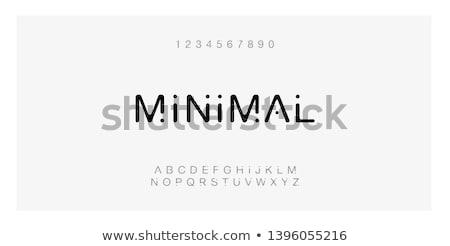 Line logo zestaw nowoczesne minimalny stylu Zdjęcia stock © FoxysGraphic