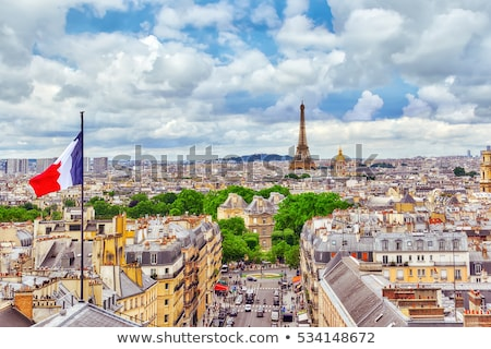 パリ 日光 フランス 空 建物 ストックフォト © Givaga