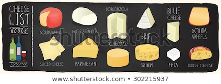 チーズ · セット · ブドウ · ナッツ · フルーツ - ストックフォト © alex9500