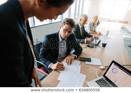 senior · manager · idee · man · pak · corporate - stockfoto © Minervastock