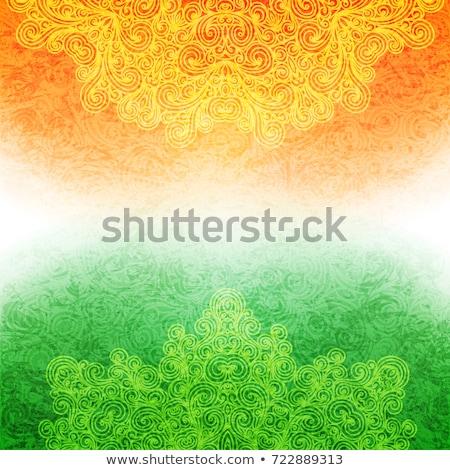 Abstrakten indian Flagge Design Republik Tag Stock foto © SArts
