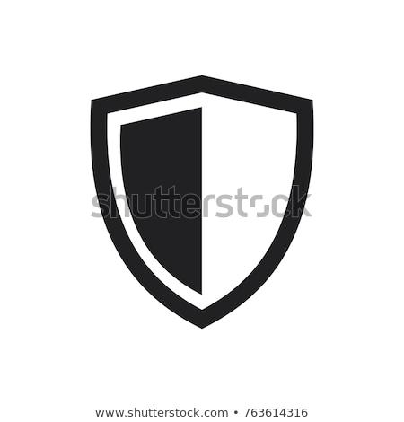 черный вектора щит икона элемент безопасности Сток-фото © blaskorizov