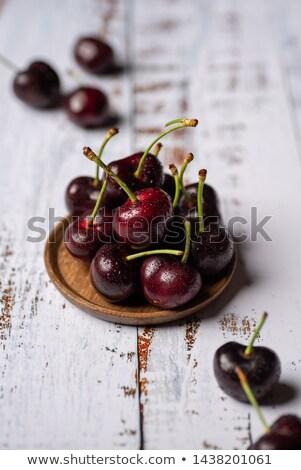 édes · cseresznyés · pite · mini · cseresznye · piték · hozzávalók - stock fotó © agfoto