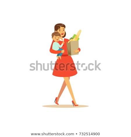 mulheres · compras · juntos · supermercado · amigos · mercearia - foto stock © dashapetrenko