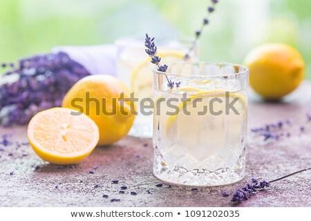 Lavendel limonade citroen ijs paars Stockfoto © Illia