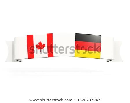 баннер два квадратный флагами Германия Канада Сток-фото © MikhailMishchenko