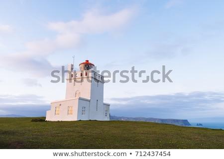 Farol Islândia não longe aldeia atração turística Foto stock © Kotenko