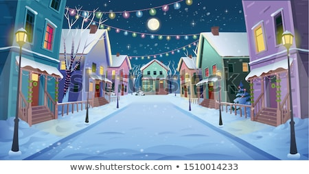 Background scene with snow in the city stock photo © colematt