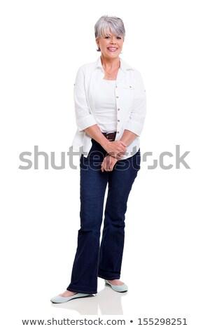 Studio portrait souriant supérieurs femme Photo stock © monkey_business