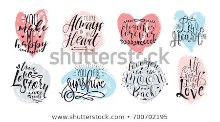 Romantische liefde citaat collectie kaart bruiloft Stockfoto © balasoiu