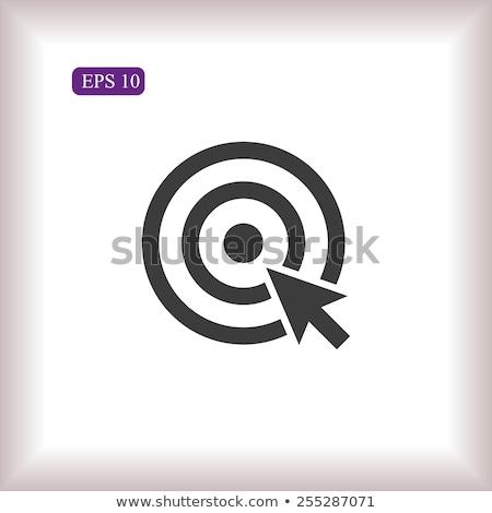 target · doel · icon · geïsoleerd · witte · sport - stockfoto © kyryloff