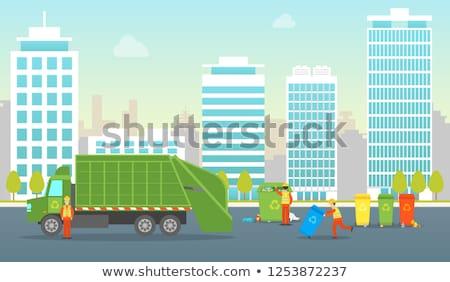 Hulladék utca jelenet illusztráció papír terv Stock fotó © bluering