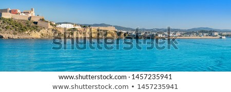 Ibiza Eivissa Castle and skyline in Balearics Stock photo © lunamarina