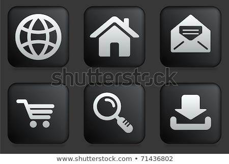 vector · winkelwagen · vergrootglas · icon · moderne · ontwerp - stockfoto © kyryloff