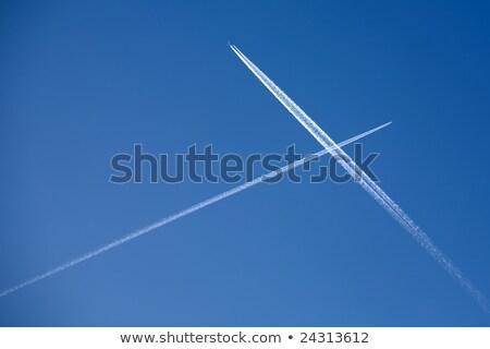 白 トレース 青空 抽象的な 自然 ストックフォト © boggy