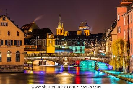Ziek rivier historisch huizen Frankrijk wijk Stockfoto © borisb17