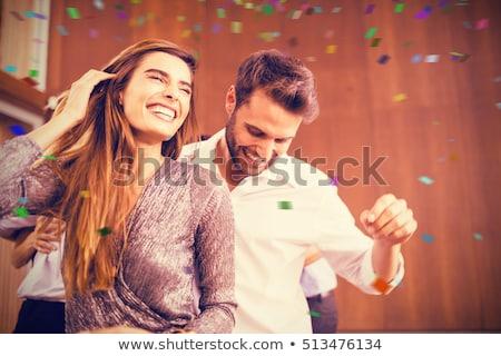 pár · buli · férfi · nő · koktélruha · klasszikus - stock fotó © vectomart