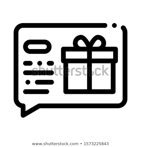 Gift Notification Message Icon Vector Outline Illustration Stock photo © pikepicture