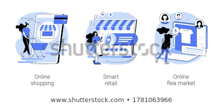Mobile shopping vector concept metaphor Stock photo © RAStudio