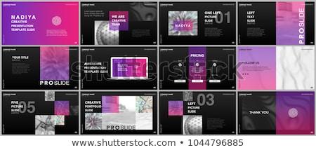 Bleu géométrique annuel rapport présentation modèle Photo stock © SArts