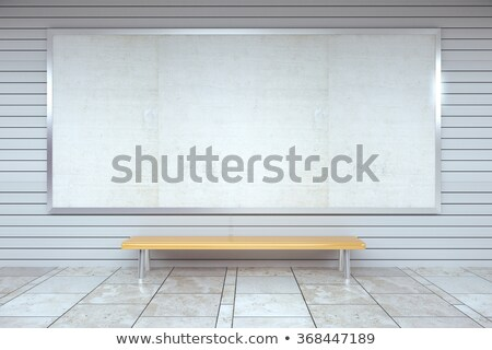 Empty bench at the metro station Stock photo © magraphics