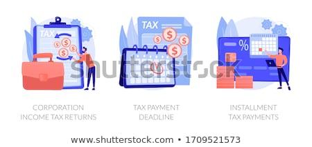 Tax payment terms vector concept metaphors Stock photo © RAStudio