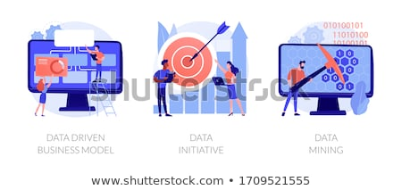 Gegevens business vector metaforen machine leren Stockfoto © RAStudio