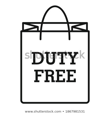duty free paper bag icon vector outline illustration Stock photo © pikepicture
