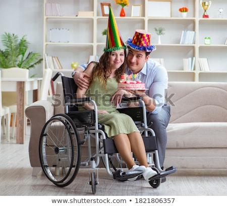 Młodych rodziny urodziny niepełnosprawnych osoby Zdjęcia stock © Elnur