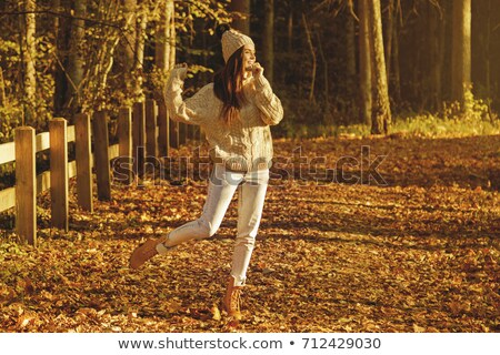 woman autumn boots stock photo © angelp