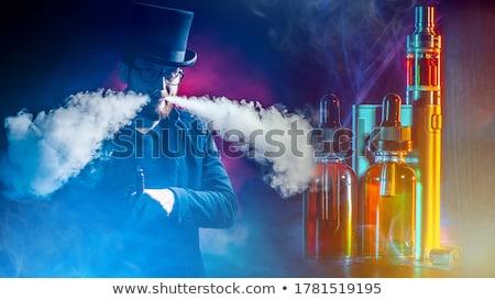 Dymny chmury oleje oleju malarstwo ciemne Zdjęcia stock © Tawng