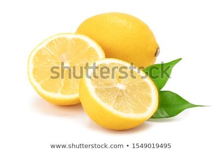 Friss citrom citromsárga izolált zöld gyümölcs Stock fotó © gladcov