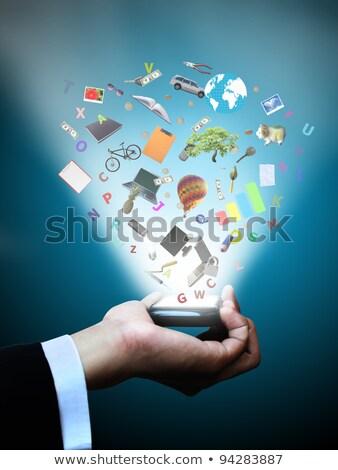 Hand magie telefoon multimedia computer Stockfoto © vlad_star