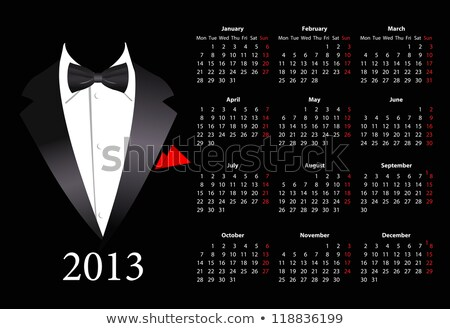 Vector European Calendar 2013 With Elegant Suit Photo stock © Elisanth