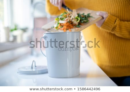 Woman making a compost Stock photo © photography33