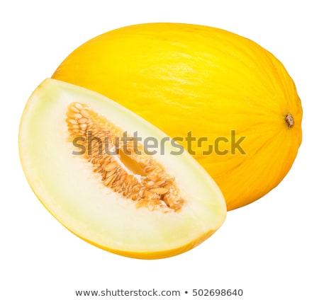 Jaune melon isolé blanche fruits frais alimentaire Photo stock © Gbuglok