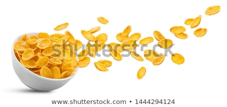 bowl of cornflakes stock photo © M-studio