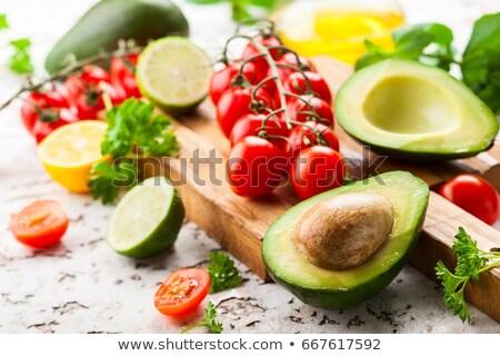salad with avocado and cherry tomato Stock photo © M-studio