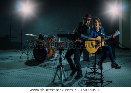 портрет женщину песня музыку гитаре пер Сток-фото © photography33