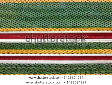 Thai temple roof texture for background Stock photo © tungphoto