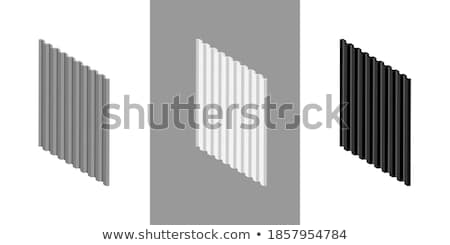 Blauw profiel metaal paneel geïsoleerd witte Stockfoto © tuulijumala