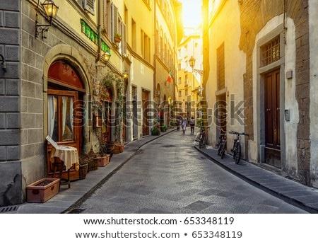 Typique rue FLORENCE ville Italie maison Photo stock © pixachi