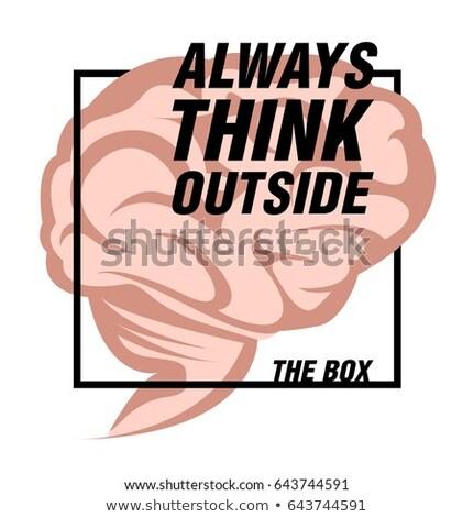 Sempre pensar fora caixa futurista motivacional Foto stock © maxmitzu