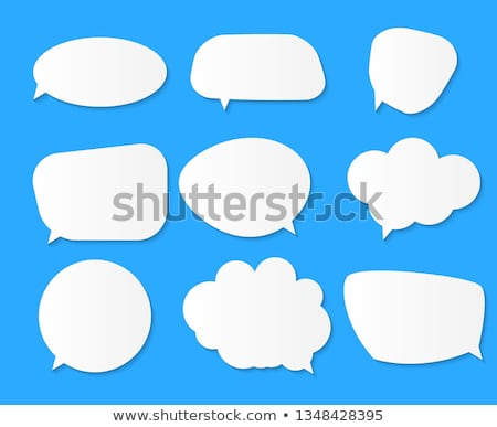 диалог пузыря вектора искусства окна облаке Сток-фото © burakowski
