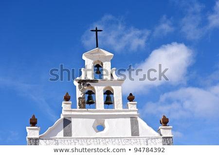 muur · katholiek · kerk · oude · Rood · baksteen - stockfoto © meinzahn